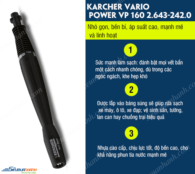 Đầu phun Karcher Vario Power VP 160 2.643-242.0