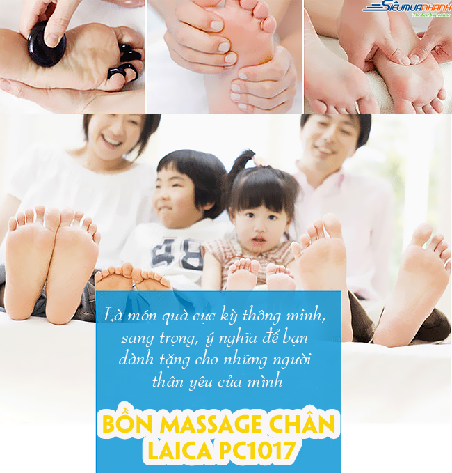 Bồn massage chân Laica PC-1017